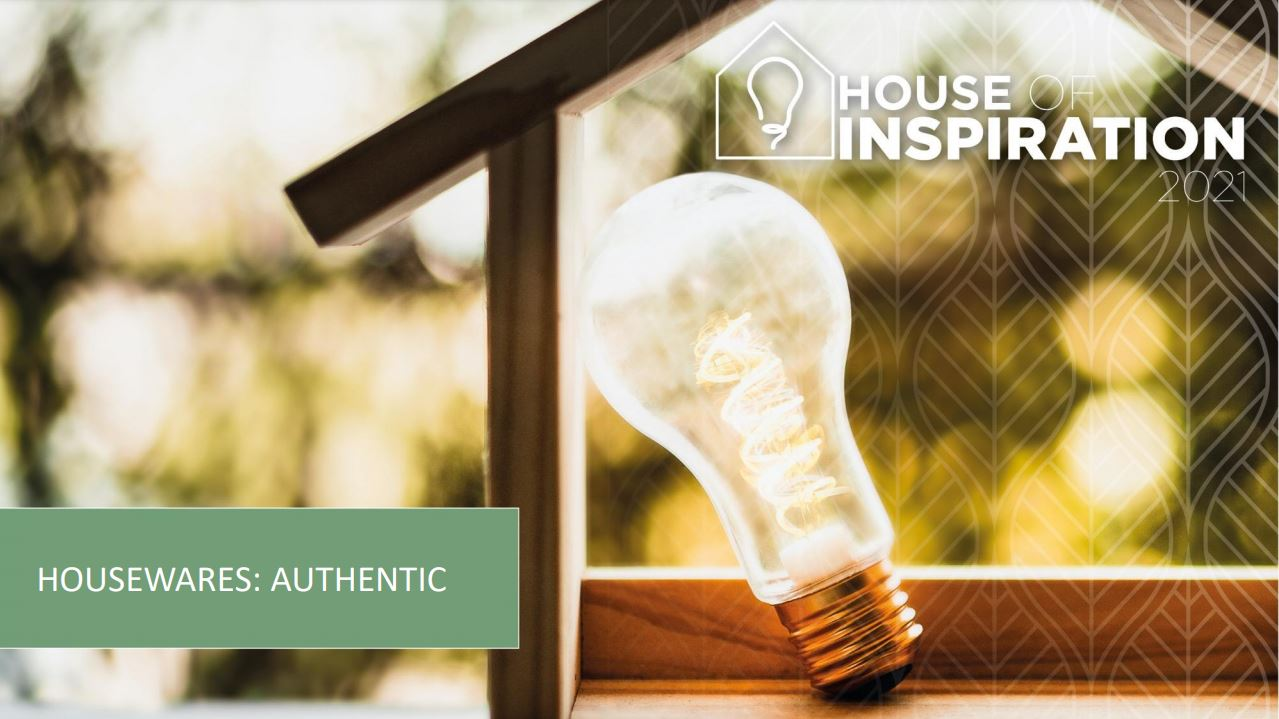 Catalogus House of Inspiration HOUSEWARES: AUTHENTIC 2021