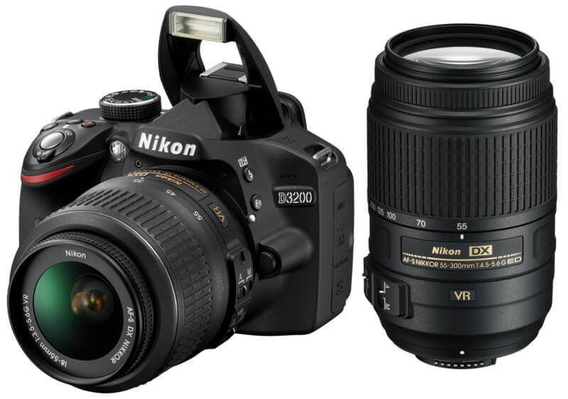 Nikon D3300 + 18–55mm VR II