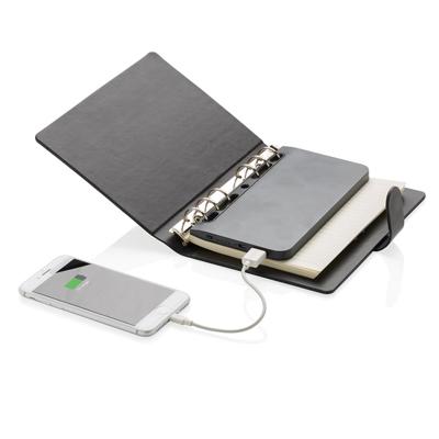 Standard notitieboek met uitneembare 4.000 mAh powerbank