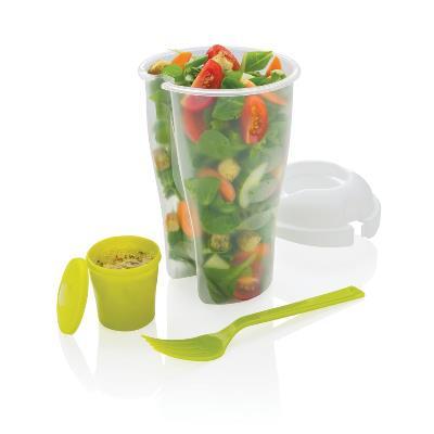 Shaker pentru salata Salad2go cu pahar pentru sos