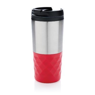 Cana termica pentru cafea cu capac si motive geometrice