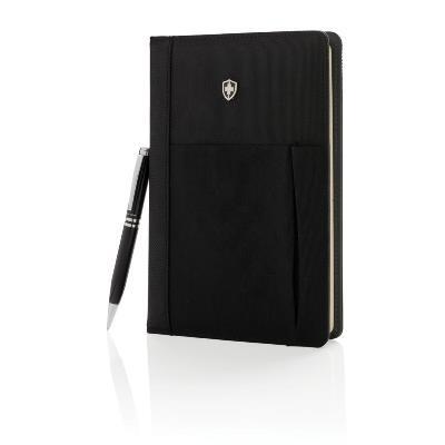 Swiss Peak hervulbare notitieboek en pen set