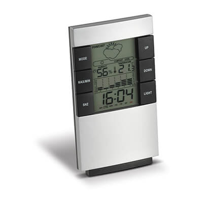 Electronisch weerstation Zilver