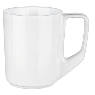 Cana ceramica Pics Solid cu toarta in unghiuri drepte