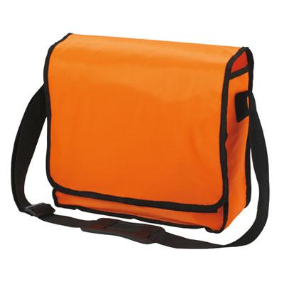 Schoudertas oranje KURIER van Halfar