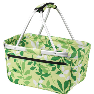 shoppertas leaf groen basket van Halfar