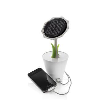 Baterie solara floare