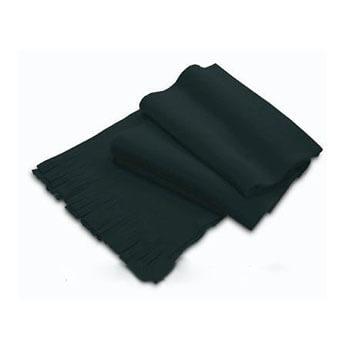 Fular negru cu franjuri