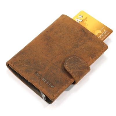 Portofel din piele si aluminiu cu protectie pentru carduri Figuretta