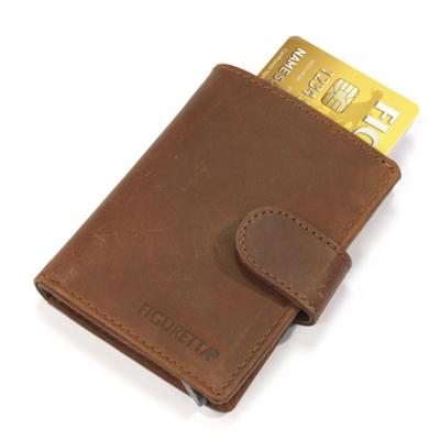 Stijlvolle nappa leren card protector en portefeuille Figuretta