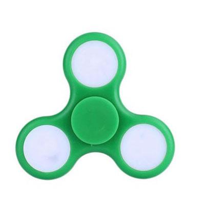 Jucarie antistres triunghiulara fidget spinner cu LED