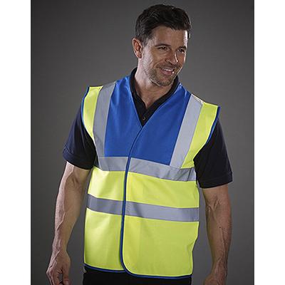 Vesta de siguranta cu benzi reflectorizante orizontale si verticale