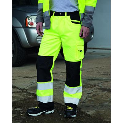 Pantaloni de lucru cu benzi reflectorizante Cargo