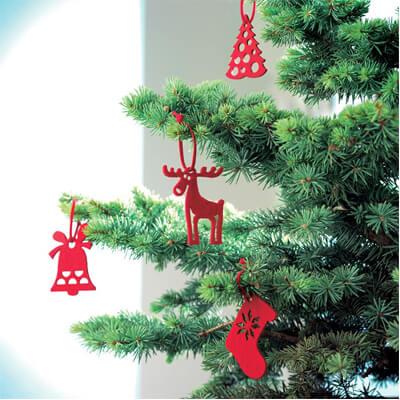 6 Vilten kersthangers