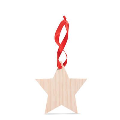 Ornament din lemn in forma de stea