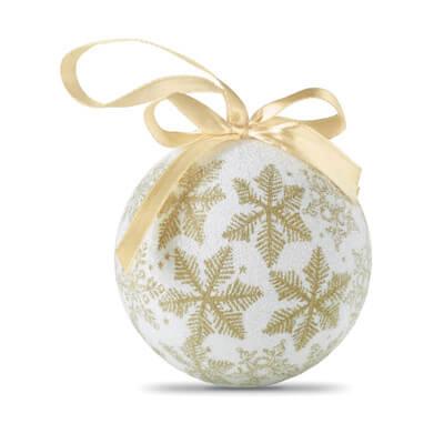 Kerstbal met parelmoer