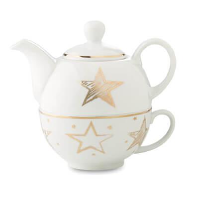 Ceainic ceramica decorat cu motive de Craciun