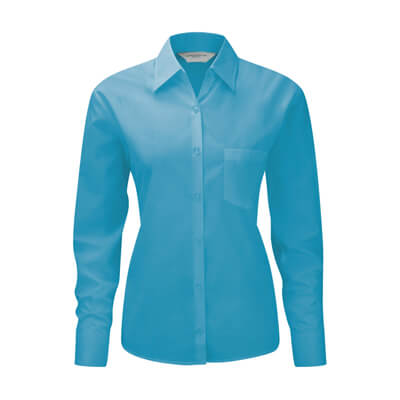 Long Sleeve Poplin Blouse