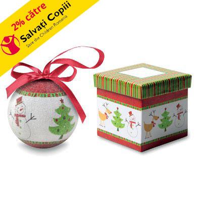 Glob Craciun in cutie cadou