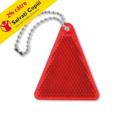 Breloc reflectorizant triunghiular Catcht