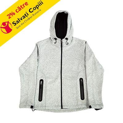 Jacheta barbateasca tricotata cu captuseala din fleece