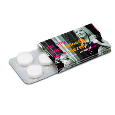 Blister cu 5 pastile cu menta