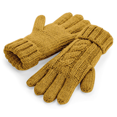 Cable Knit Melange Gloves