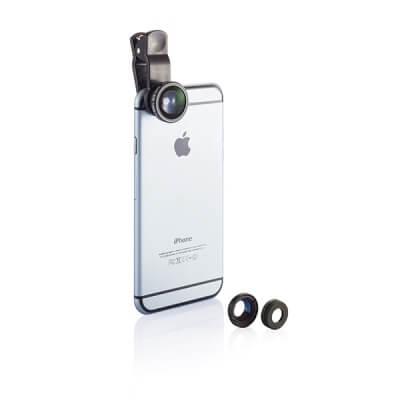 3 in 1 lens voor mobiele telefoon