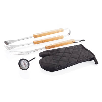4-delige barbecue set