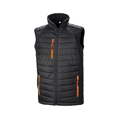 Vesta barbati Black Compass Padded Softshell Gilet