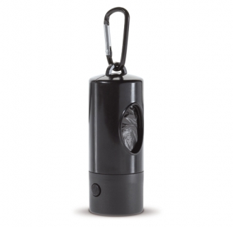 Bag dispencer with flashlight