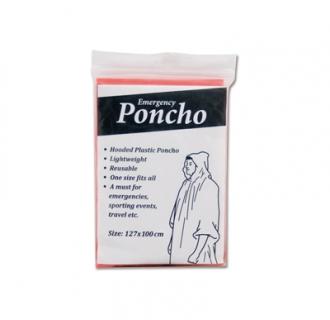 Plastic regenponcho met capuchon