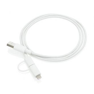 2 in 1 kabel met MFi gelicentieerde Apple lightning stekker