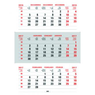 Calendar triptic pliat