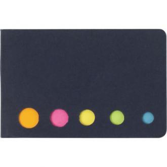 Memoboekje met 5 verschillende kleuren