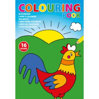 Children's colouring book in  A4 format.