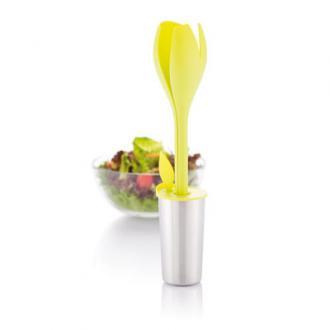 Set ustensile pentru salata sub forma de lalea