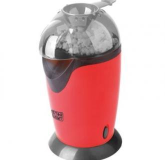 Aparat de facut popcorn Star-Light PM-1200R, 1200W, tehnologie cu aer cald, timp de preparare max. 3 min, pahar dozator boabe, Rosu