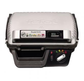 Gratar electric cu timer Tefal Super grill GC451B12, 2000 W, 4 Nivele, Inox/Negru