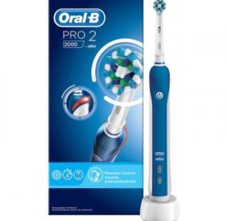 Periuta de dinti electrica Oral-B PRO 2 2000 Cross Action, Alb/Albastru