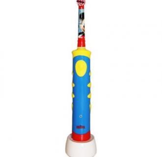 Periuta de dinti electrica Oral-B Mickey Mouse pentru copii, reincarcabila, Rosu/Albastru