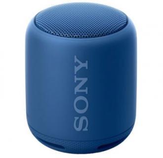Boxa portabila Sony, EXTRA BASS, Bluetooth, NFC, Wi-Fi, Rezistenta la stropire, Albastru