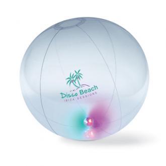 Opblaasbare strandbal met interne ledverlichting