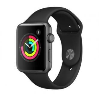 Apple Watch 3, GPS, Carcasa Space Grey Aluminium 42mm, Black Sport Band