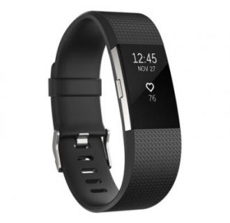 Bratara fitness Fitbit Charge 2, Black Silver, Large