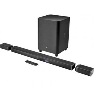 Soundbar JBL BAR 5.1, 510W, bluetooth, sateliti spate wireless, subwoofer wireless, Negru