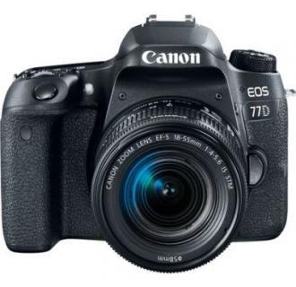 Aparat foto DSLR Canon EOS 77D, 24.2MP, Wi-Fi, Negru + Obiectiv EF-S 18-55mm f/3.5-5.6 IS STM