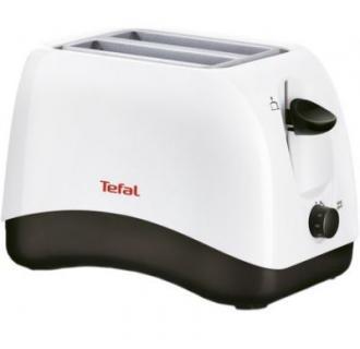 Prajitor de paine Tefal TT130130, 850 W, 2 felii, Alb