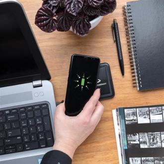 Incarcator wireless Bright 5W cu logo luminos