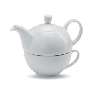 Ceainic cu ceasca din ceramica